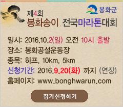 봉화송이전국마라톤대회